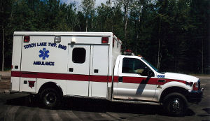 Torch Lake Township Emergency Medical Services department ambulance.