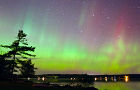 Torch Lake Township northern lights